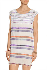 LemLem Kedame Beehive striped cotton-blend gauze coverup