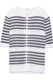 Zare striped cotton-blend gauze tunic