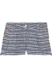 Printed cotton-voile shorts