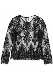 Cotton-blend lace top