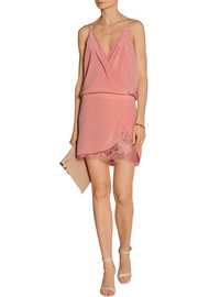 Washed-silk crepe de chine mini dress