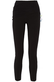 Lotus folded stretch-jersey pants