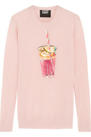 Pink Lemonade sequined merino wool sweater