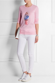 Markus Lupfer Ice-Cream sequined cotton sweater