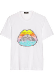 Lips sequined cotton T-shirt