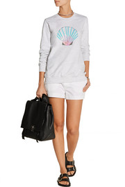 Markus Lupfer Shell sequined cotton-terry sweatshirt