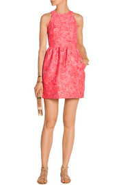Markus Lupfer Erica brocade mini dress