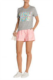 Alex embellished cotton-blend jersey T-Shirt