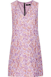 Cory floral-jacquard mini dress