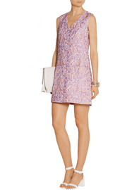 Markus Lupfer Cory floral-jacquard mini dress
