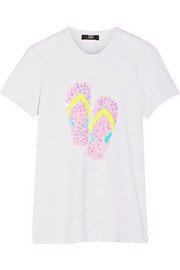 Kate sequined cotton-jersey T-shirt