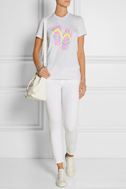 Markus Lupfer Kate sequined cotton-jersey T-shirt