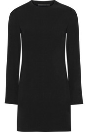 Open-back crepe mini dress