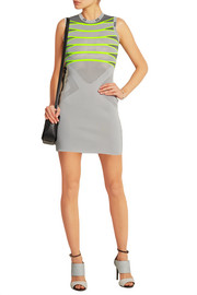 Alexander Wang Mesh-paneled knitted mini dress
