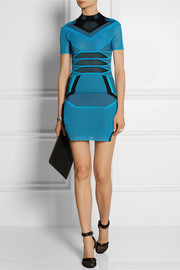 Alexander Wang Two-tone mesh mini dress