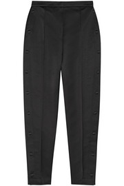 High-rise sateen-twill pants
