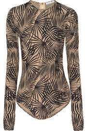 Palm-print swimsuit