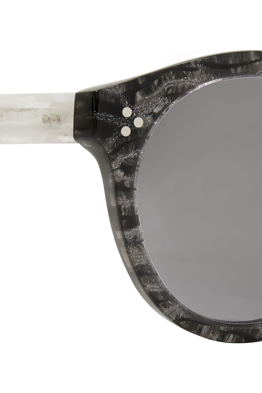 Illesteva Leonard II round-frame acetate mirrored sunglasses