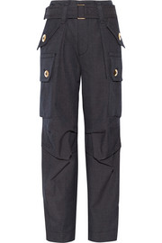 Wool-twill cargo pants