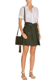 Wool-gabardine mini skirt