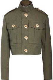 Marc Jacobs Cropped wool-gabardine jacket
