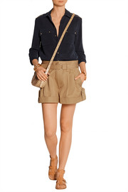 Marc Jacobs Pleated cotton-twill shorts