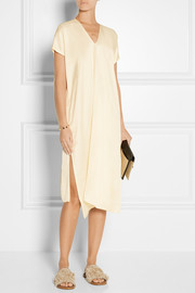 Satin-twill dress