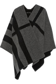 Burberry Prorsum Checked wool and cashmere-blend cape