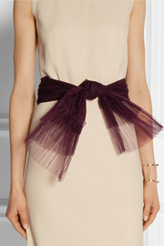 Dragonfly pleated tulle belt