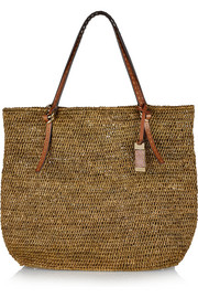 Rogers large raffia and leather tote