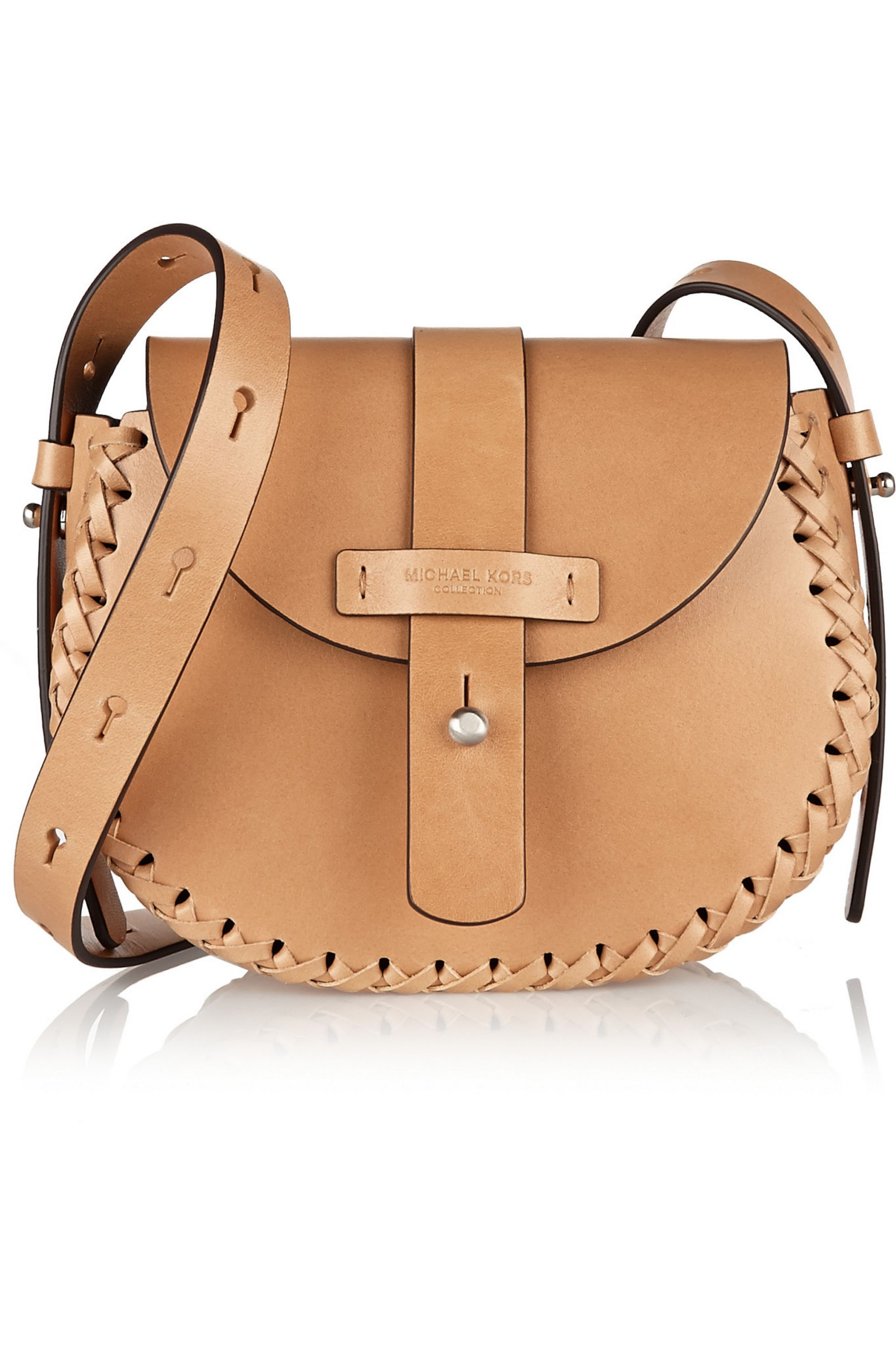 Michael Kors Collection Claire whipstitched leather shoulder bag