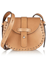Claire whipstitched leather shoulder bag