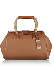 Millicent textured-leather tote