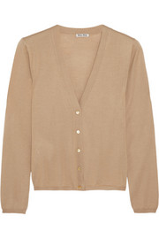 Cashmere and silk-blend cardigan