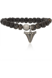 Loree Rodkin Wood, diamond and 18-karat white gold bracelet
