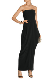 Long Anise crepe dress