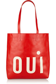 Margot printed leather tote