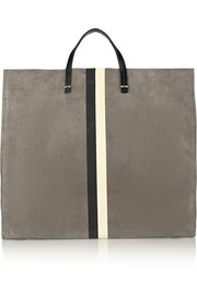 Clare V Simple coated-suede tote