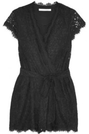 Purdette guipure lace playsuit