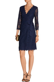 Diane von Furstenberg Julianna lace wrap dress