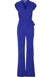 Purdy belted crepe jumpsuit