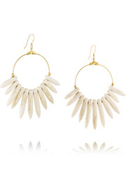 Kenneth Jay Lane Gold-plated magnesite spike earrings