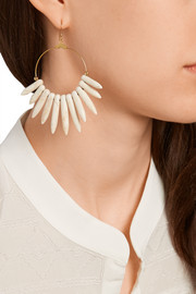 Gold-plated magnesite spike earrings