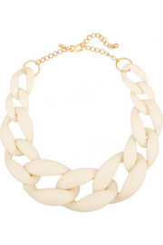 Kenneth Jay Lane Gold-plated resin chain necklace