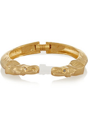 Kenneth Jay Lane Gold-plated Swarovski crystal cuff