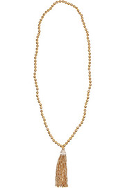 Kenneth Jay Lane Gold-plated Swarovski crystal necklace