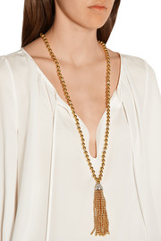 Gold-plated Swarovski crystal necklace