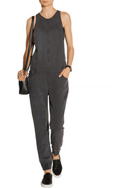 5 Pocket washed-denim jumpsuit