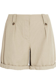 Burberry Brit Cotton and linen-blend shorts