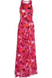 Davina printed silk gown